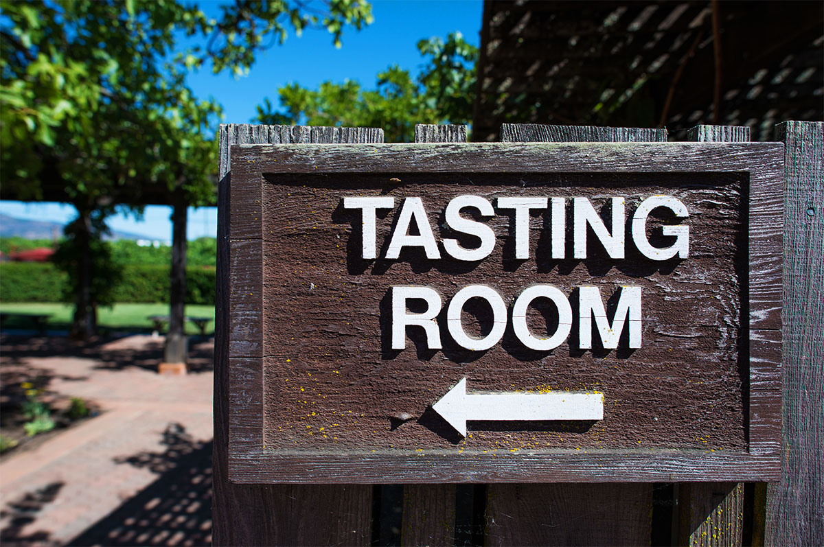 Winery Tasting Room Sign